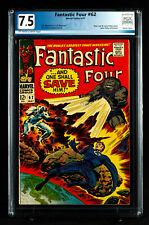FANTASTIC FOUR #62 (1967) PGX 7.5 VF- Very Fine Minus!  First Blastaar!! +CGC!!!