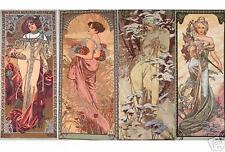 "FOUR SEASONS Alhonse Mucha Wall Tapestry Painting Set 19""x45"""