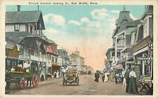 A Busy Day on Circuit Avenue, Looking North, Postcards For Sale,  Oak Bluffs MA