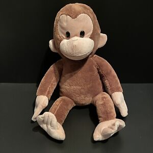 Applause CURIOUS GEORGE BROWN MONKEY Character Stuffed Animal PLUSH SOFT TOY 15""