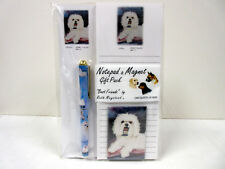 New White Maltese Dog List Pad Note Pad Magnet Pen Stationery Gift Pack MAL-11