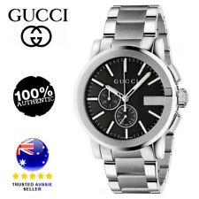 Gucci Men's YA101204 Analog Display Swiss Quartz Silver Watch