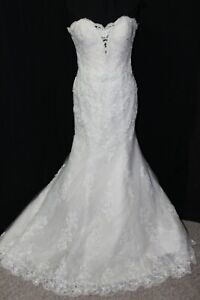 NEW Justin Alexander 8811 Light gold/light ivory lace, Size 14 fitted bridal