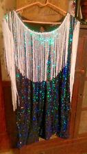 Kiss-milk Plus Size Women Sequin withFringe Dress - Flapper Costume - Size 20