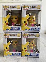 Funko Pop! Pokemon Flocked Pikachu Flocked GameStop #353 X-Mas Stocking Stuffer