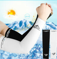 Summer Men Women Ice Cooling Arm Sleeves Cover UV Sun Protection Outdoor Sports