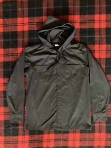 Men's UNDER ARMOUR FULL Button-Up Hooded Jacket! WOUNDED WARRIOR PROJECT- Size L