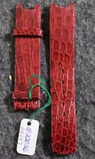 Vintage Jaeger-LeCoultre Genuine Crocodile Veritable Red 16mm Watch Band