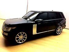 LARGE BLACK RANGE ROVER VOGUE RADIO REMOTE CONTROL 1:16 R/C LED CAR - IDEAL GIFT