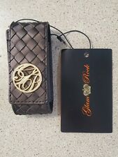 Lipstick holder Case with Mirror Makeup Organizer Bag Pouch brown