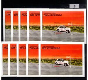 SB 10X LESOTHO - MNH - TRANSPORTATION - OLD CARS - WHOLESALE