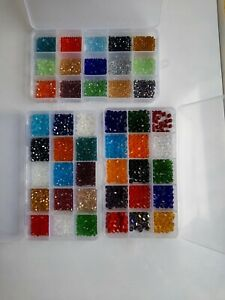 3,4,6mm  Bicone Crystal Beads