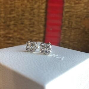 *NEW* Genuine Pandora S925 ALE CLEAR Oriental Blossom Stud CZ Earrings 290647CZ