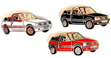 AUTO Pin / Pins - PEUGEOT 205 CABRIO schwarz/weiss/rot