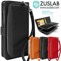 For Samsung Galaxy S9 Plus Case ZUSLAB Detachable Leather Card Slot Wallet Cover