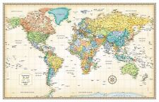 Rand mcnally  Classic World Map smooth finish Poster Print, 50x32