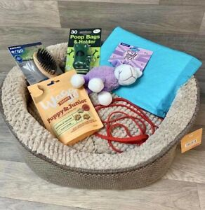 Puppy Starter Pack With Bed, Toy, Collar/lead, Pads, Treats, Brush Gift Wrapped!