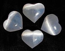 Herz aus Selenit 50 mm, Handschmeichler, ca. 60g. (Hz137)