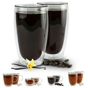 Latte Macchiato Gläser DOPPELWANDIG Thermogläser SET Becher Tassen Kaffee GLAS