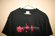 NEW 18 EIGHTEEN VISIONS Obsession T-Shirt Large Trustkill Records Band RARE Tour