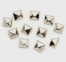 "100 1/2"" Silver Square Pyramid Studs Goth Leather craft Denim Punk Clothing Shoe"