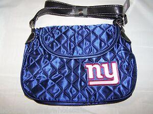 New York Giants Quilted Saddlebag Purse Handbag