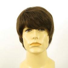 Perruque homme 100% cheveux naturel châtain clair ref EMILE 8
