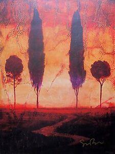 "SIMON BULL ""TOSCANA III"" Hand Signed Limited Edition Art Giclee on Canvas"