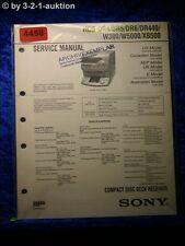 Sony Service Manual HCD DR4 /DR5 /DR6 /DR440 /W300 /W5000 /XB500 (#4458)