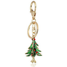 Handbag Buckle Charms Accessories Green Christmas Tree Keyrings Key Chains HK31