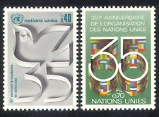 UN (G)/United Nations 1980 Dove/Bird/Flags/Anniversary/Animation 2v set (n39019)
