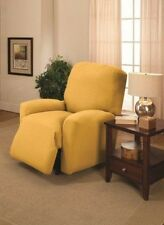 YELLOW COVERS FOR RECLINER SOFA COUCH LOVESEAT CHAIR-STRETCHES FOR A TIGHT FIT