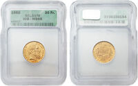 Belgium 1882 20 Francs Lopold II Gold ICG MS-65