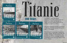 Palau 2012 MNH Titanic 100th Anniv Sinking 4v M/S Boats Ships Stamps