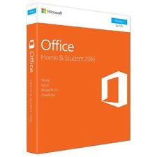NEW SEALED MICROSOFT PC WINDOWS OFFICE HOME & STUDENT 2016 KEYCARD FOR 1 USER