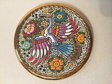 Cearco Decorative Plate Hand Made in Spain 24K Gold Peacock 5 7/8""