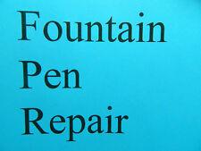 Fountain Pen Repair -Lever or Button Filler Fountain Pens - Parker Sheaffer Etc.
