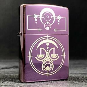 Riley's 66 Custom Zippo Lighter - Alien - High Polish Purple