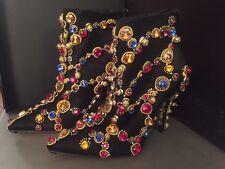 NWT Dolce & Gabbana Alta Moda Unique Runway Crystal Booties US9 EU39