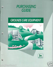 Equipment Brochure - John Deere - Grounds Care - Tractors et al - c1990 (E3001)