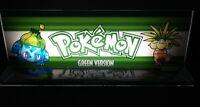 "Pokemon Green Version Backlit 4"" x 11"" Marquee w/ The Arcade Light Box Display"