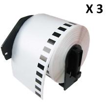 Compatible con 3x DK11202 62x100mm etiquetas de dirección for Brother QL-570