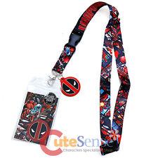 Marvel Deadpool Lanyard KeyChain ID Pocket with Charm