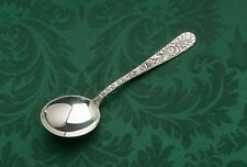 """Repousse by Kirk Stieff Sterling Silver set of 8 Bouillon Soup Spoons 5.5"""""""
