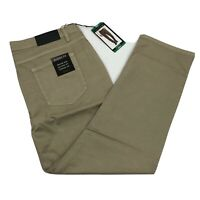 Tahari Men's Casual Pants Classic Fit 5 Pocket Relaxed Hip Straight Fit Khaki