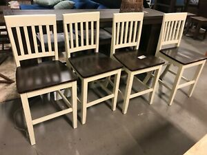 SIDE WHITE COUNTER STOOLS - SET OF 4