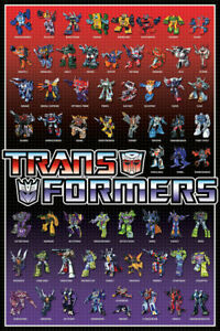 TRANSFORMERS - CHARACTERS POSTER - 24x36 AUTOBOTS DECEPTICONS 241229