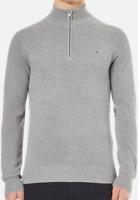 Gant Honeycomb 1/4 Zip Jumper Sweater Mens Light Grey OTH Pullover UK Size S *12