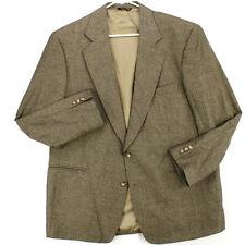 VITO RUFULO LANIFICIO DI PRAY Silk Brown Herringbone BLAZER COAT SUIT JACKET 46R