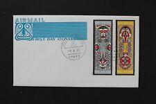 PAPUA NEW GUINEA 1969 FDC Folklore -Elema art